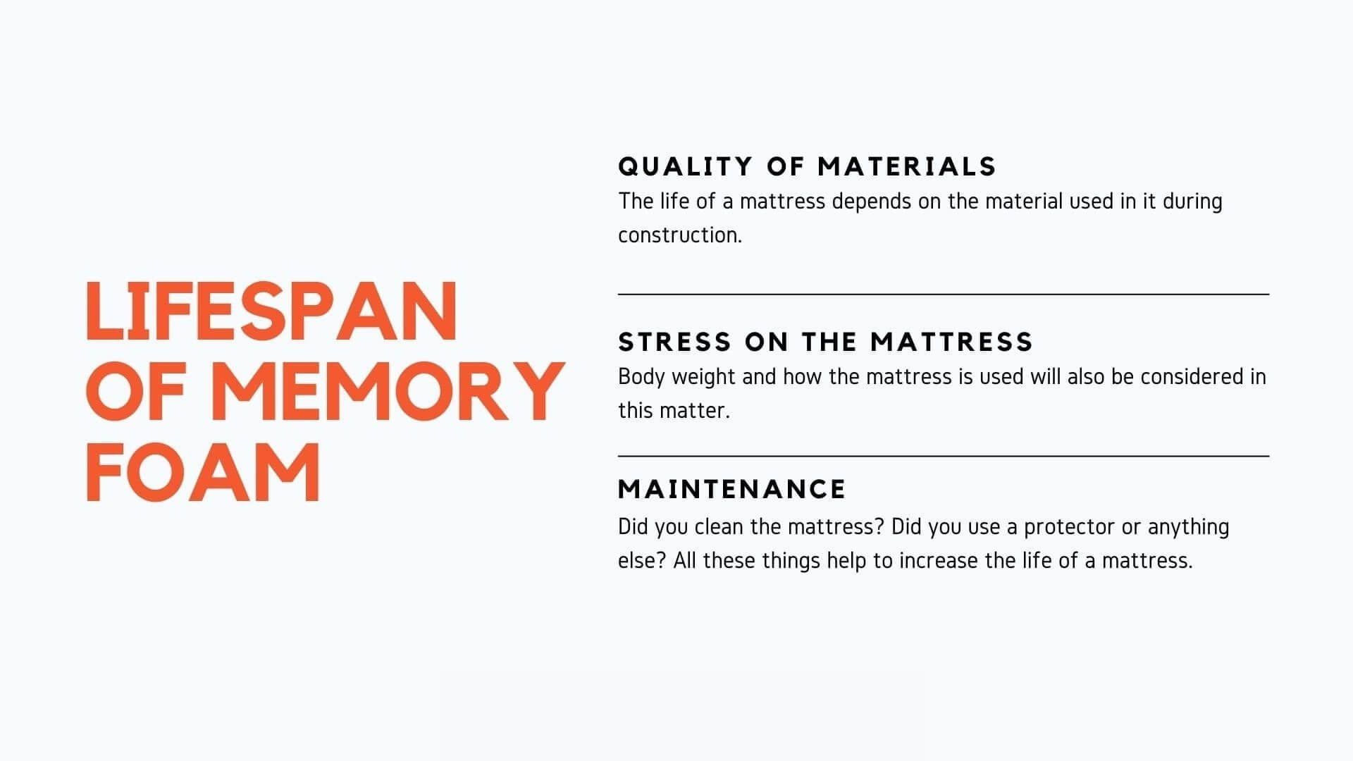 Memory Foam lifespan