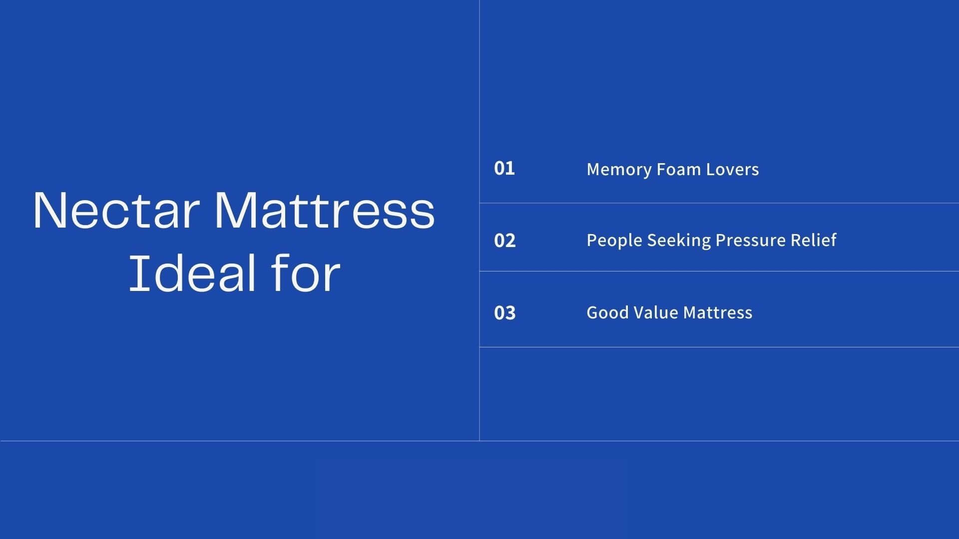 Is nectar sleep mattress for you
