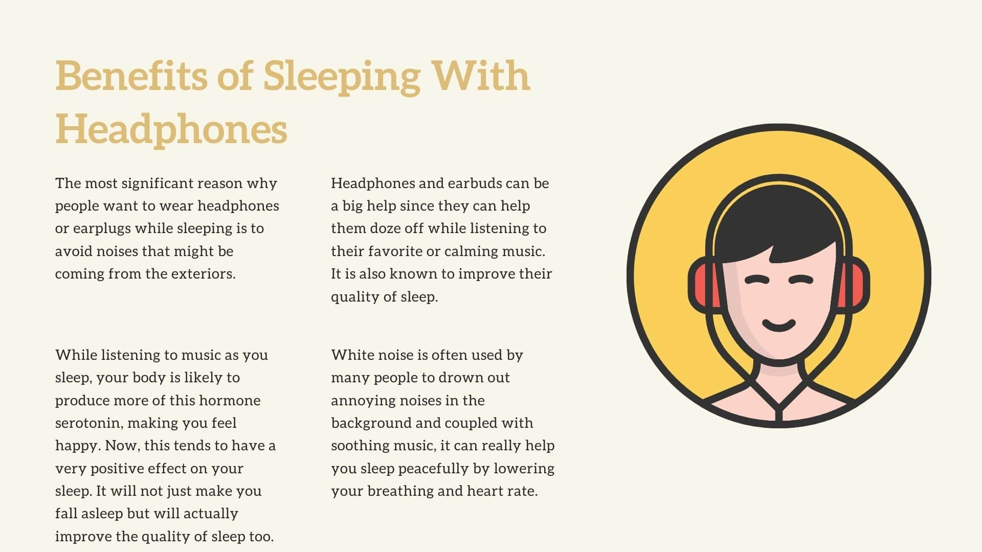 listening to music while you sleep